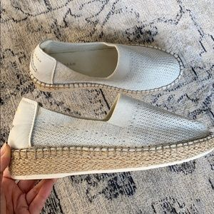 Cole Haan Espadrilles White and Silver
